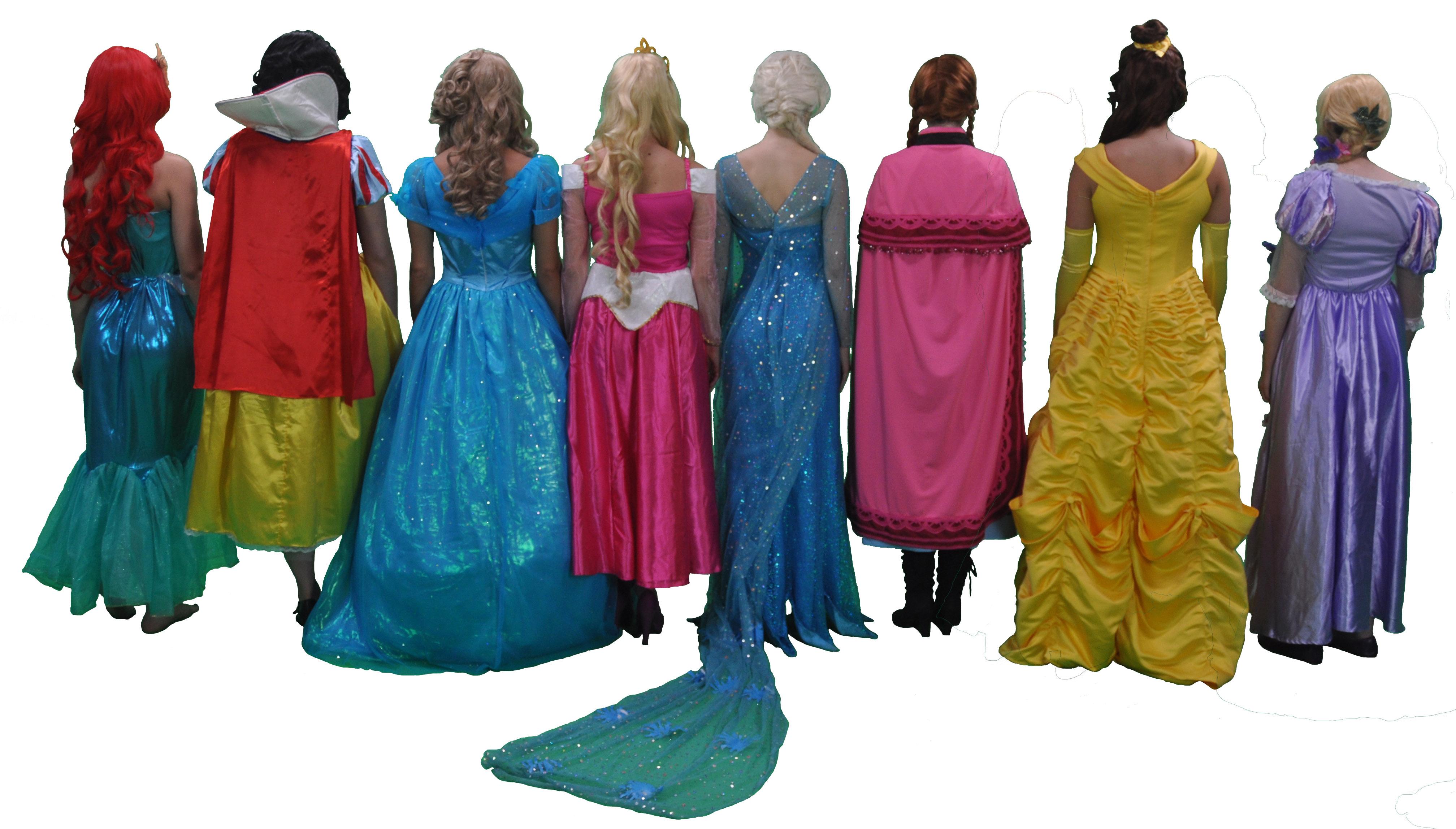 transparent princesses backs