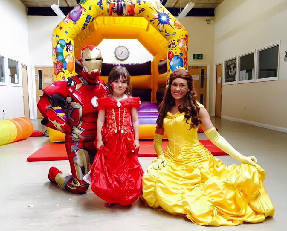 Belle and Spiderman and girl