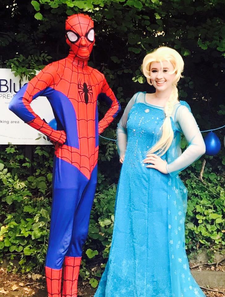 Elsa and Spiderman