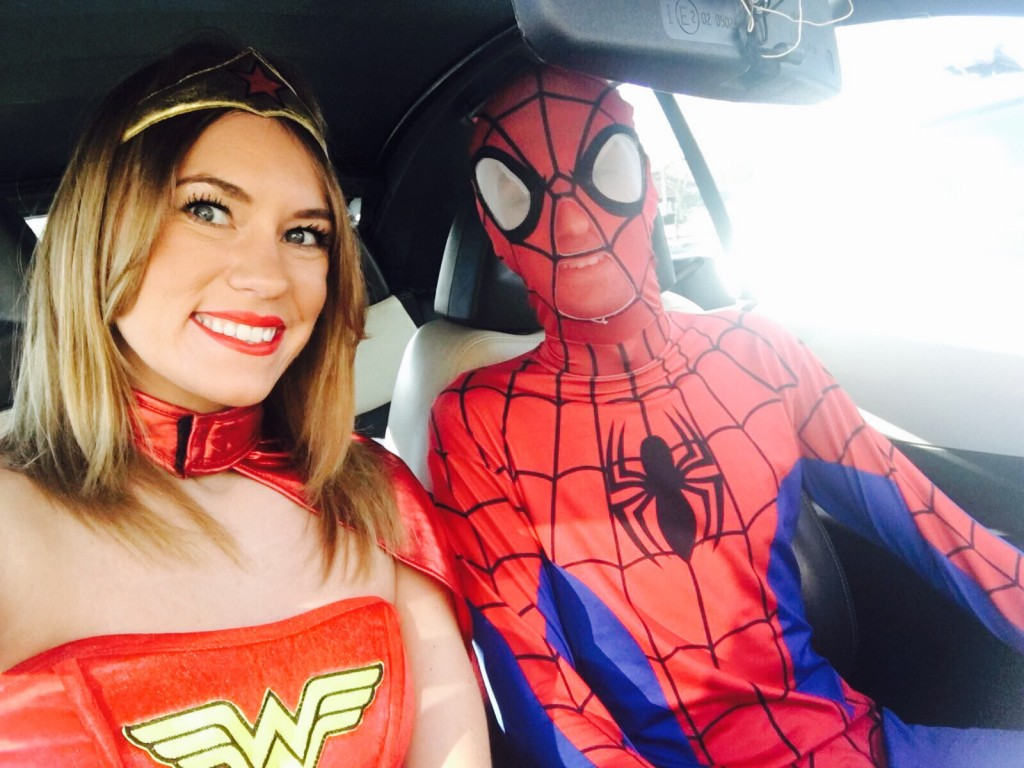 Wonderwoman and spiderman